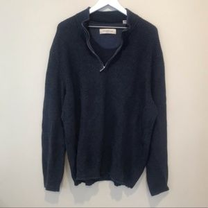 Tommy Bahama Navy Quarter Zip Pullover Sweater XL